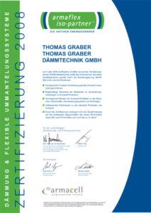Graber GmbH Zertifikat armaflex Dämmtechnik