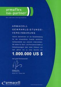 Graber GmbH Armacell Gewährleistungsvereinbarung