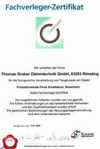 Graber GmbH Fachverleger Zertifikat