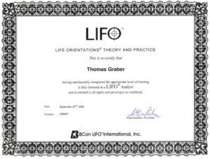 Graber GmbH Zertifikat LIFO