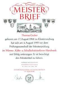 Graber GmbH Meisterbrief WKSB