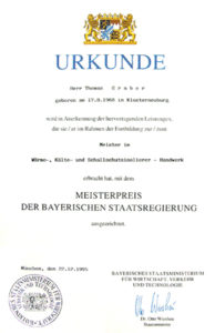 Graber Gmbh Zertifikat Bayerische Staatsregierung